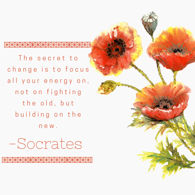 Socrates, The secret to change it focus all your energy on, not on fighting the old, but building on the new. -Socrates