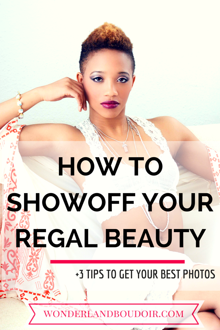 How to showoff your regal beauty in a boudoir session.  Dallas Boudoir Photography.  Wonderland Boudoir