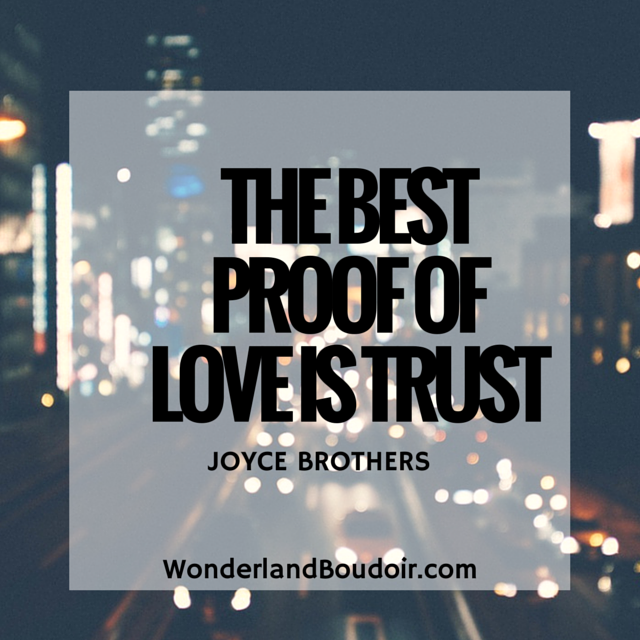The best proof of love is trust.  If you can't love him then you need to leave him.