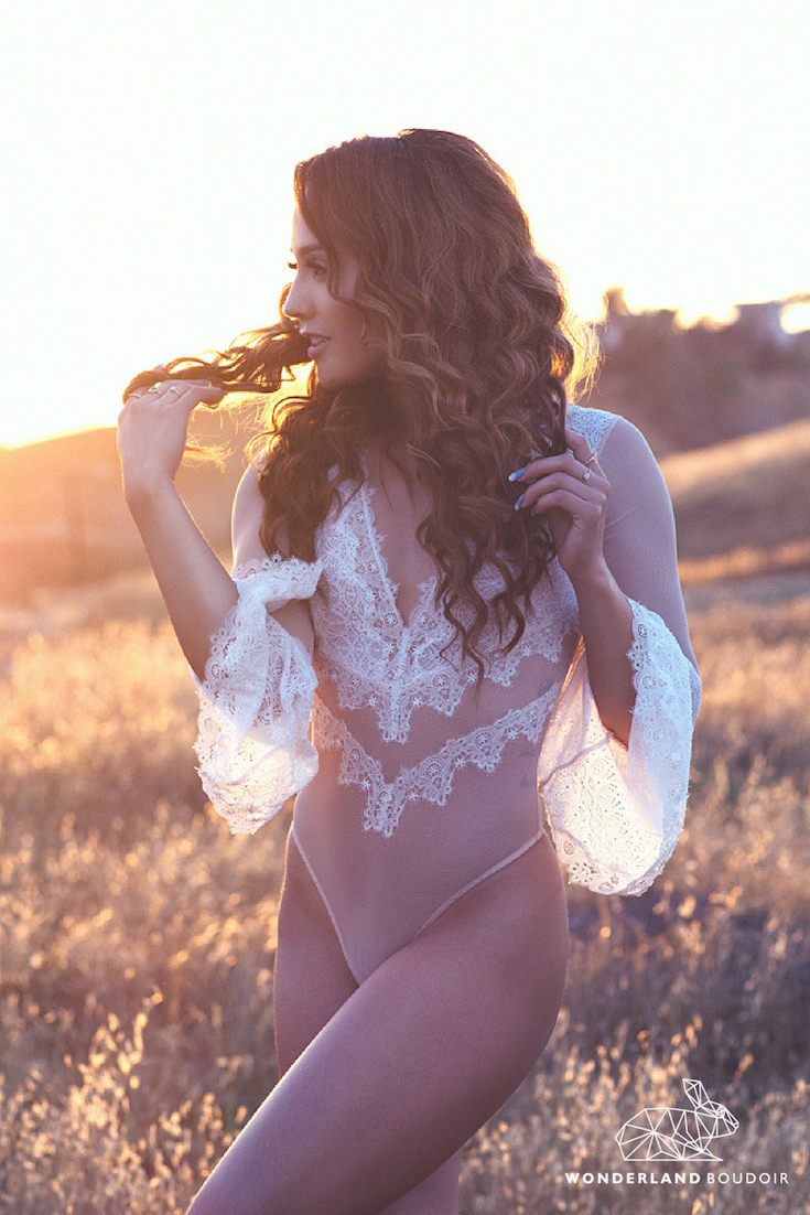 Los Angeles Boudoir Photography, Wonderland Boudoir, California Sunset