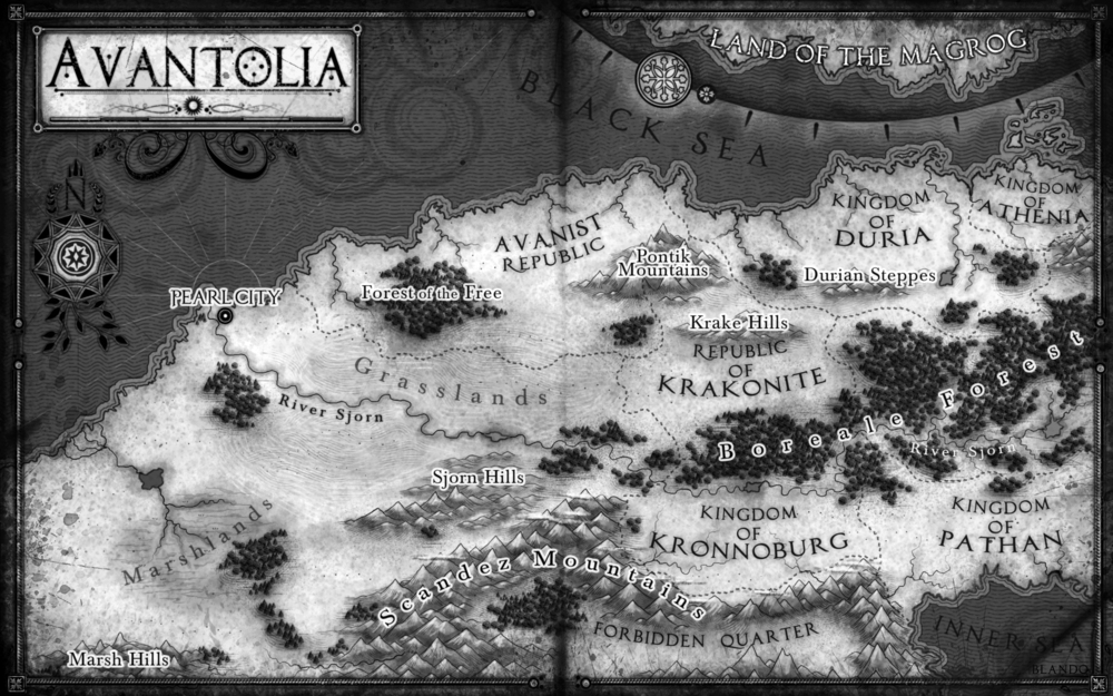 Map for Last of the Tasburai: The Tasburai Chonicles Book One