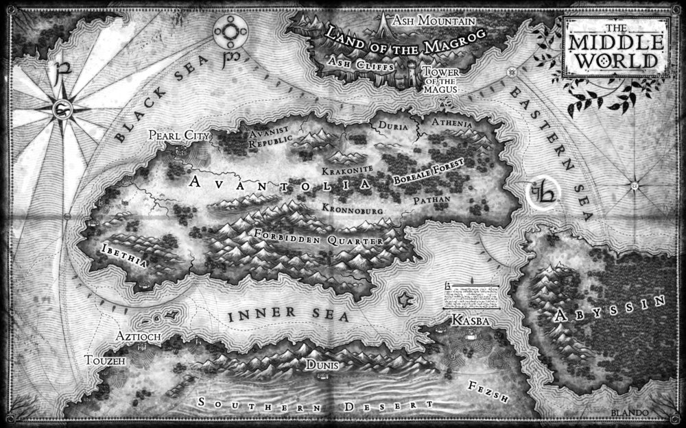 Map for Scream of the Tasburai: The Tasburai Chonicles Book Two