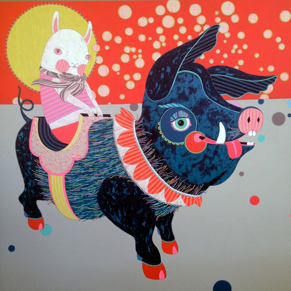 Jennifer Davis Pig Painting