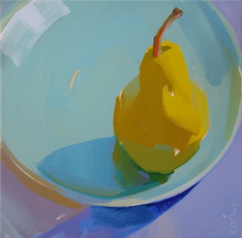 Pear still life Karen O'Neil