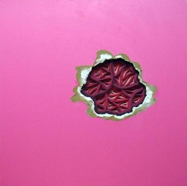 pink paper layered art