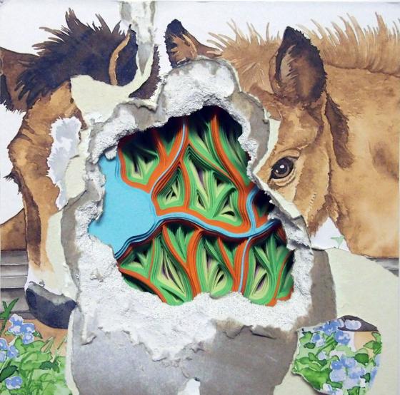 horse art cut paper nashville