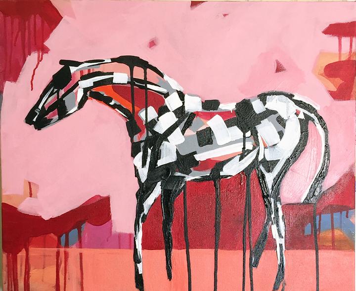 Peach Blossom Stephanie Jeanne horse art