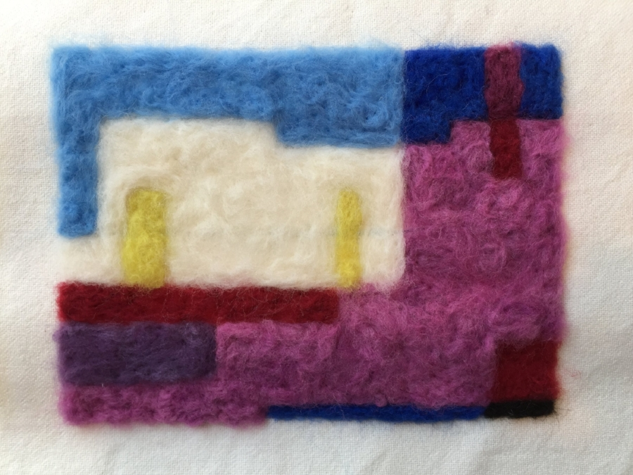 Needle felted broken screenshot,  2016