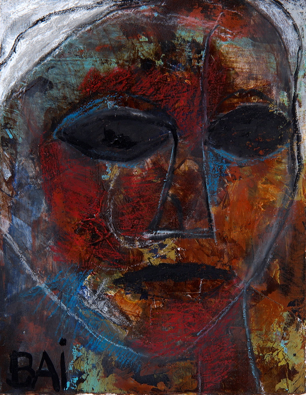 Woman with Blue Face [SOLD]