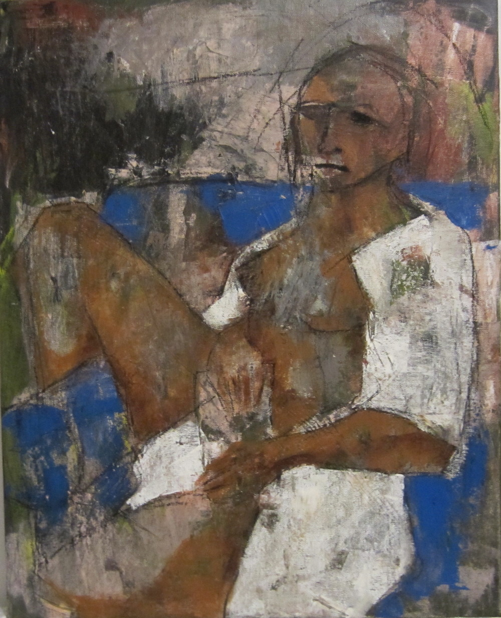 Nude with White Gown and Book [SOLD]