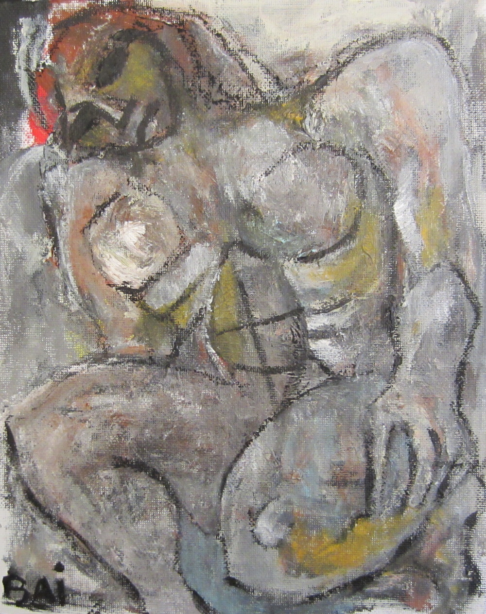Study of Nude Kneeling