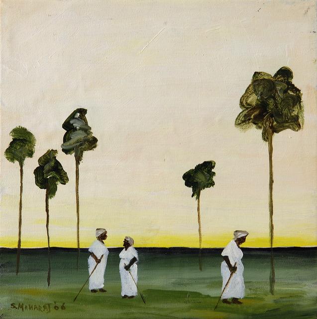 Three Women in Landscape