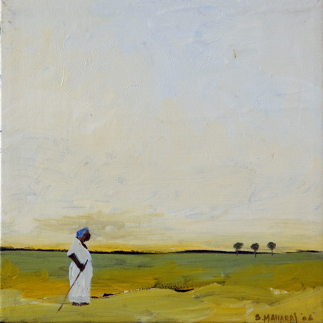 Woman and Three Trees