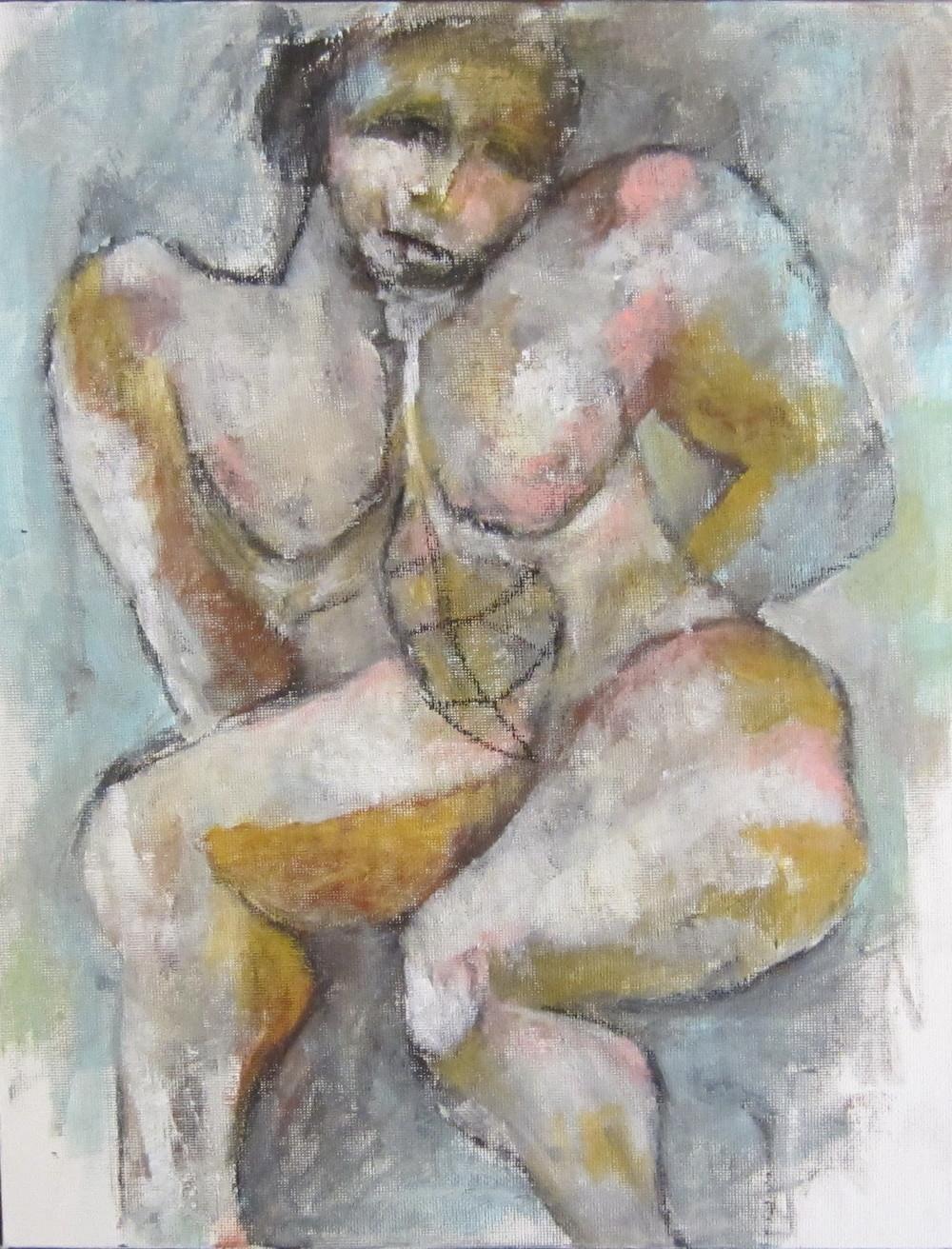 Nude - Hand on Stool
