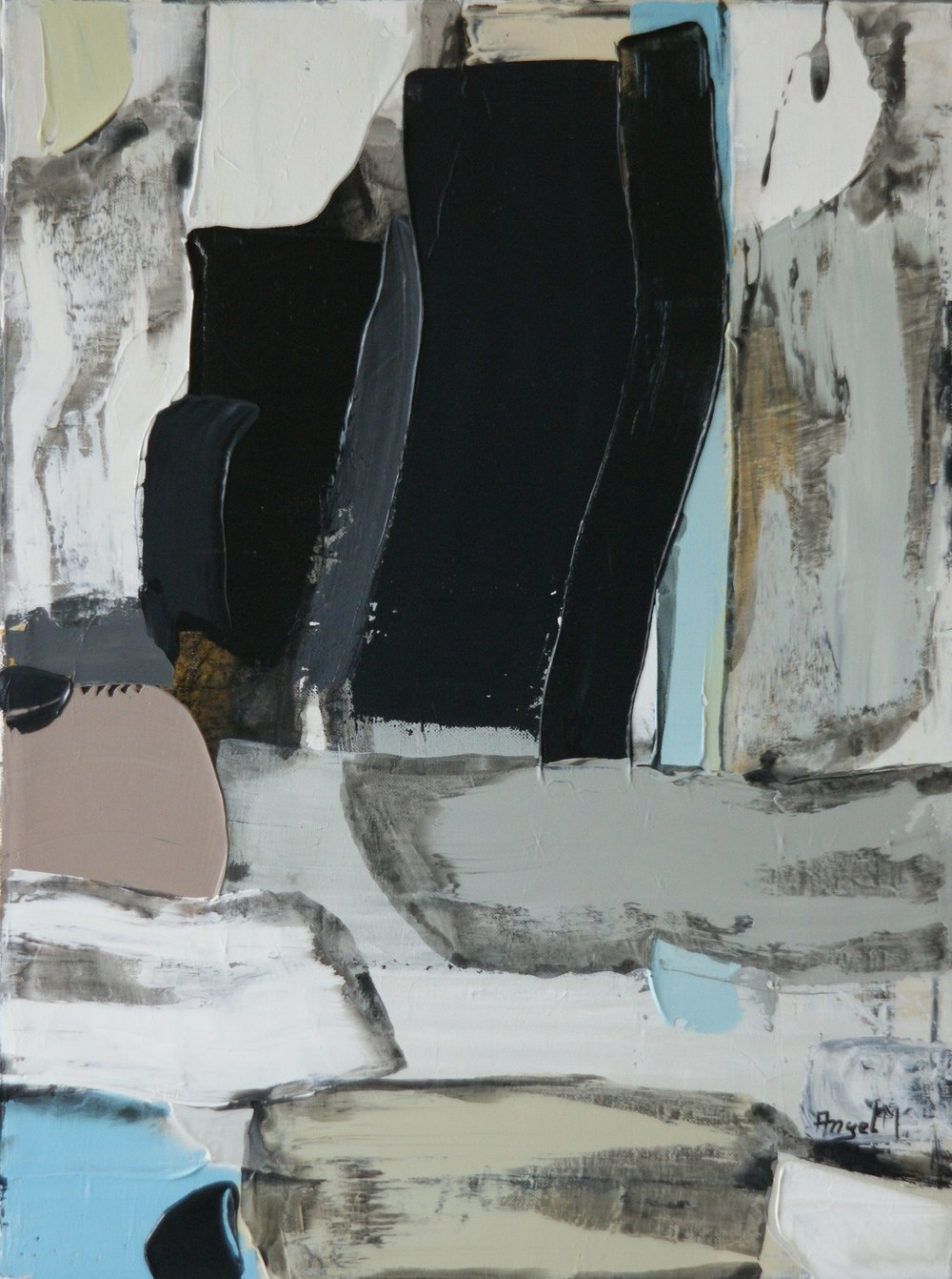 "Mario Angel, ""Black Hole"", Acrylic on Canvas"