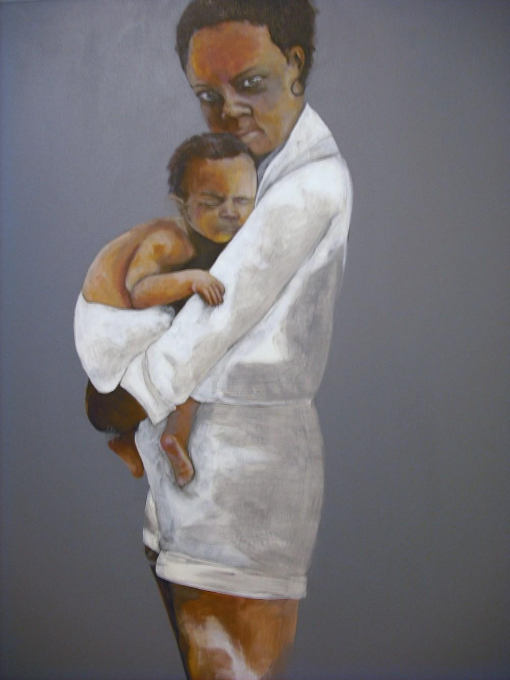 "Opal Dunbar Adams, ""1974"", Mixed Media on Canvas"