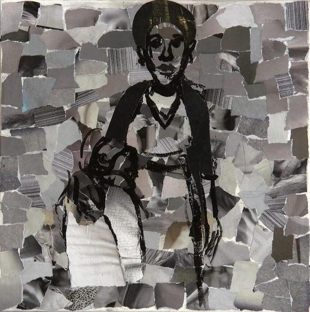 "Bushra Junaid, ""Untitled"", Paper Collage"