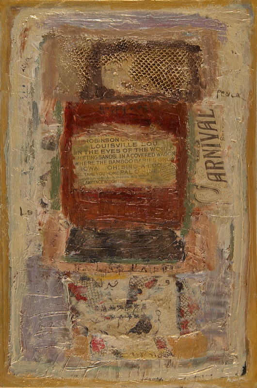 "Hawa Kaba, ""Communication"", Mixed Media on Canvas"