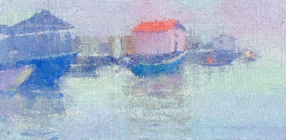 PO 01 Fishing Village (Series)  Oil on Canvas 18x36.jpg