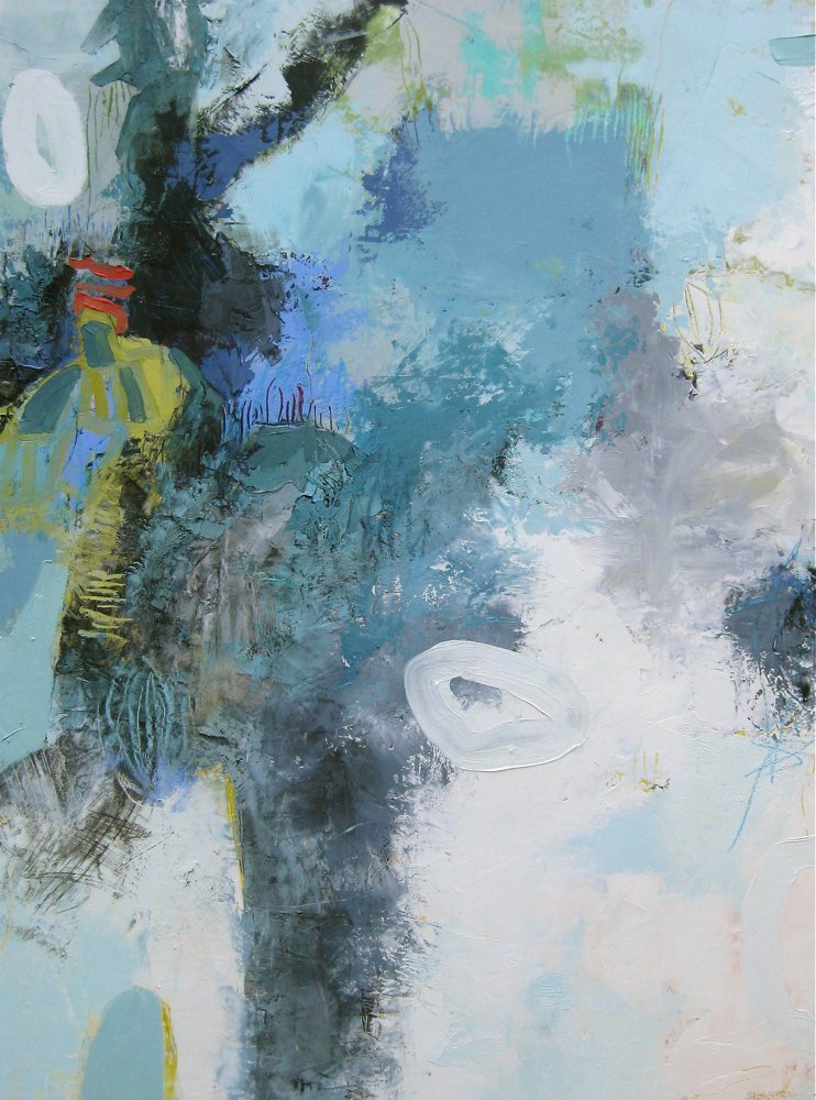 "Searching II, Oil/Mixed Media on Board, 48"" x 36"""