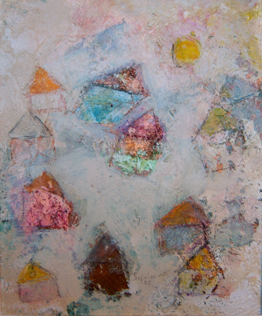 Leon Soriano, Tribute to Klee, Mixed Media on paper