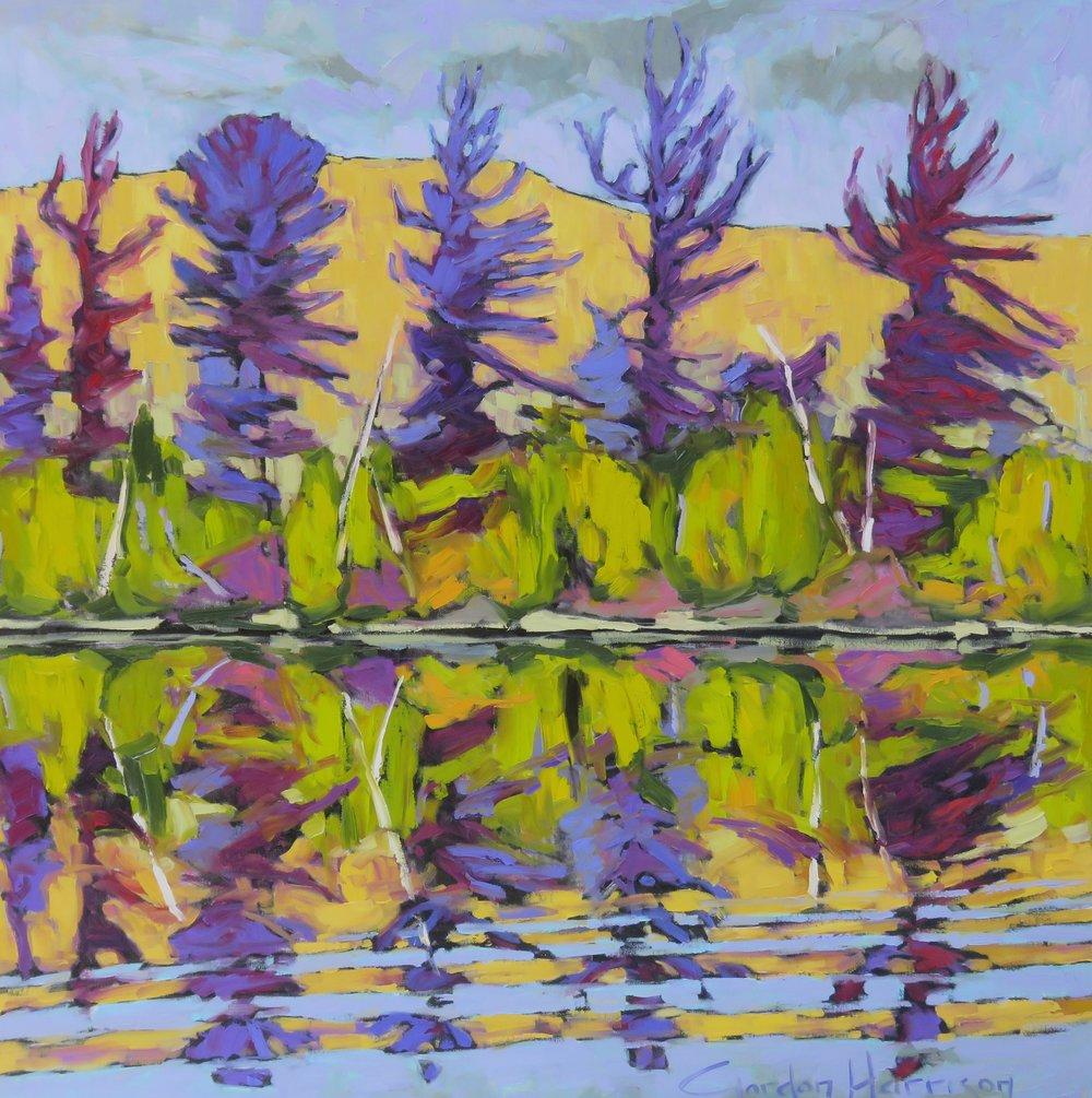 """Copy of Poemes en paysages - Laurentians, Quebec 40"""" x 40"""""""