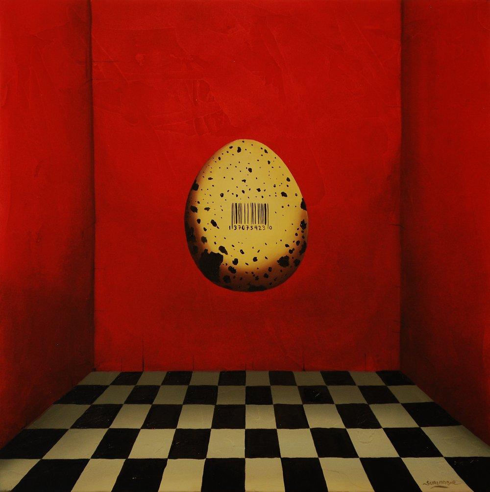 """El huevo I 12"""" x 12"""""""