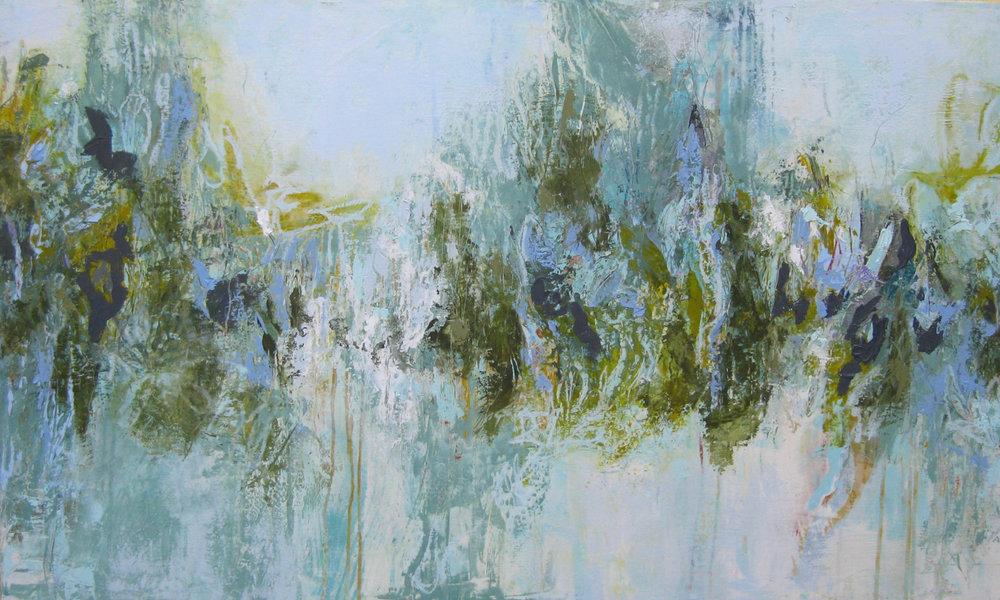 """Reflections II, oil on panel 36"""" x 60"""""""