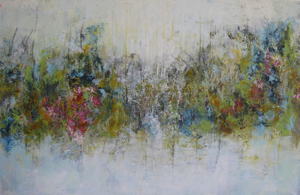 "Early Wildflowers 40"" x 60"""