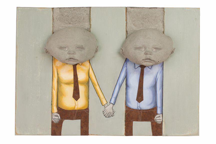 """Holding Hands, 13"""" x 18.5"""" x 5"""""""