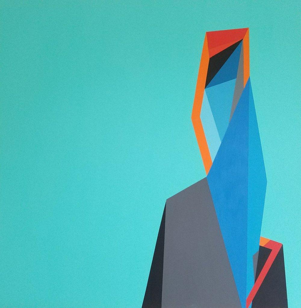 Muse, 91 x 91 cm