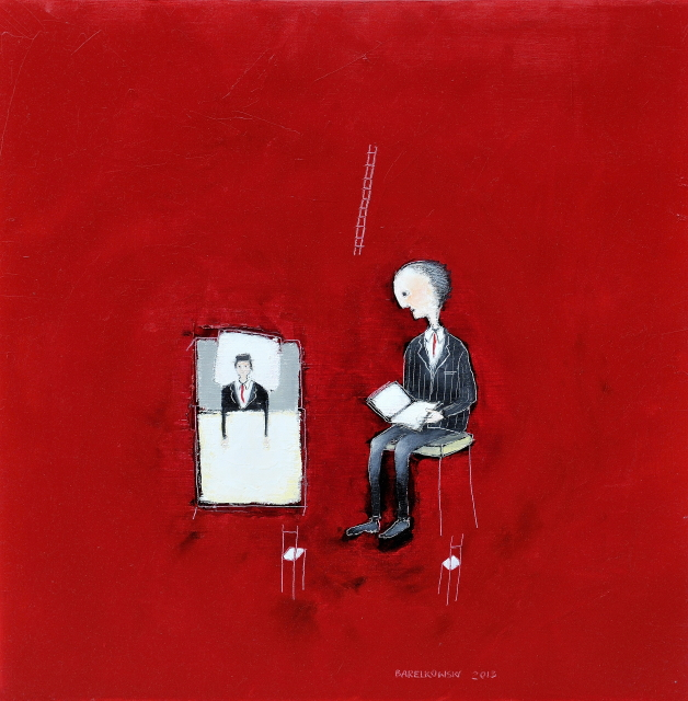 Untitled (Father & Son) 61 x 61 cm