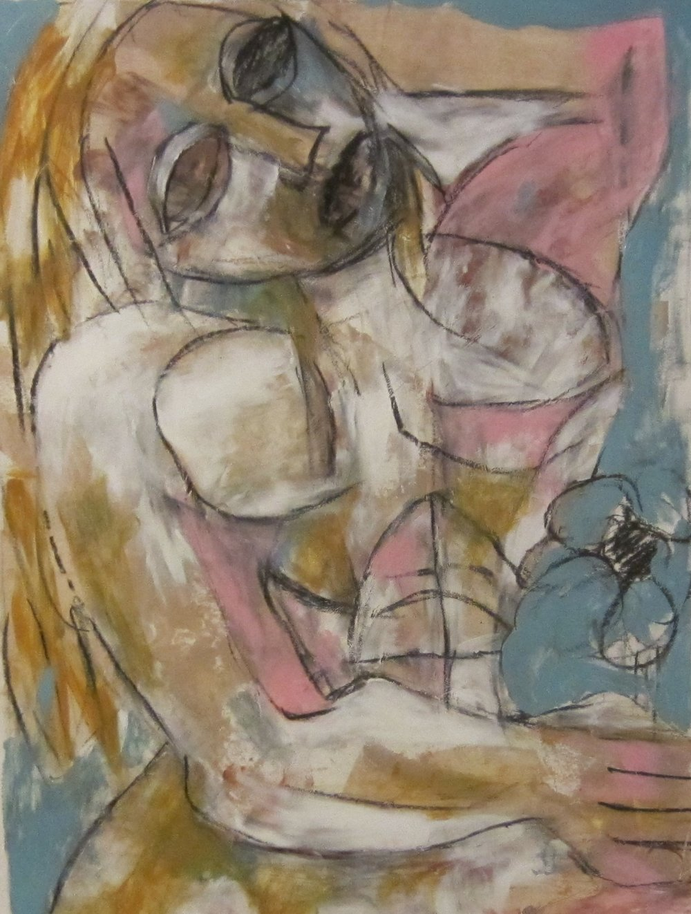 Orna with Flower 51 x 41 cm