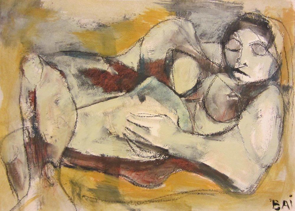 Kira Reclining 41 x 51 cm