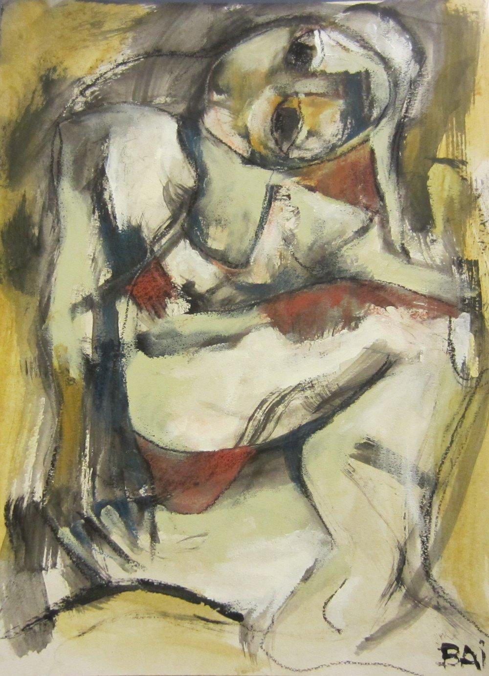 Kneeling Nude 51 x 41 cm
