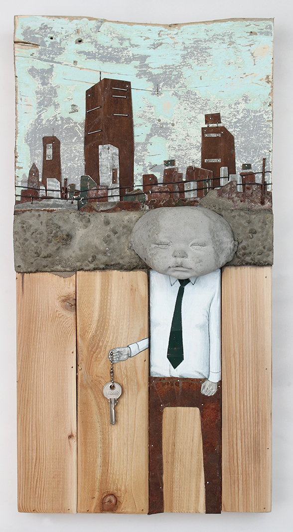 """We Hold the Key, 25"""" x 12"""
