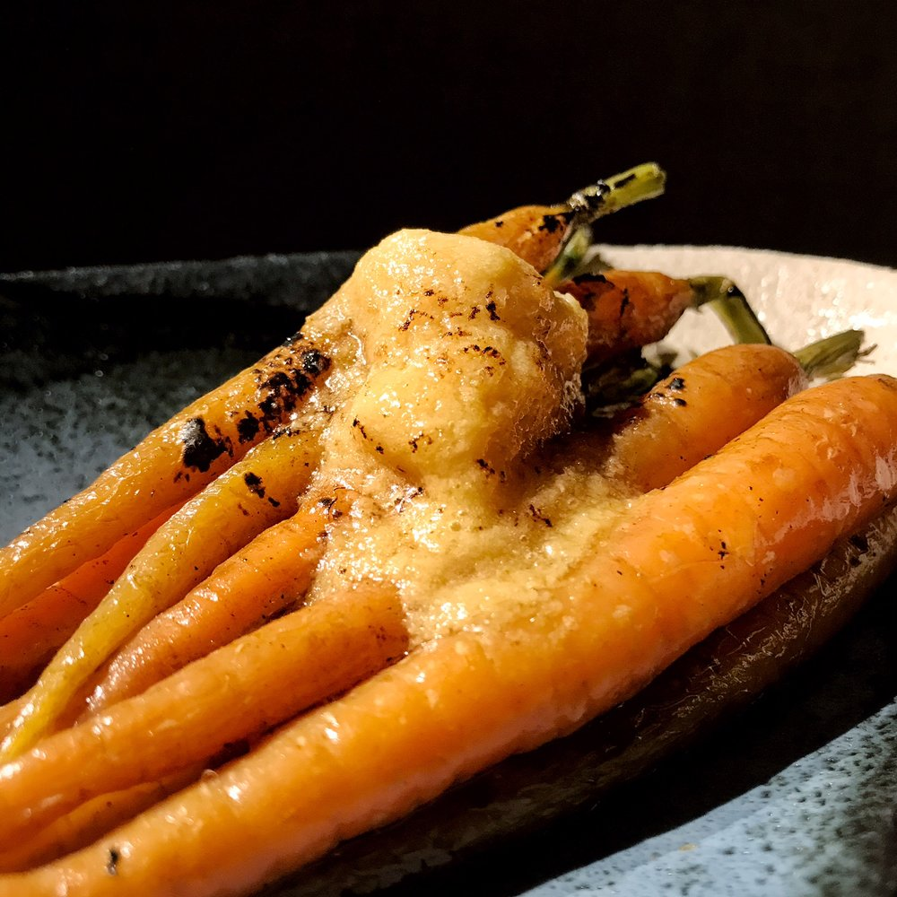 Baby carrots with miso butter