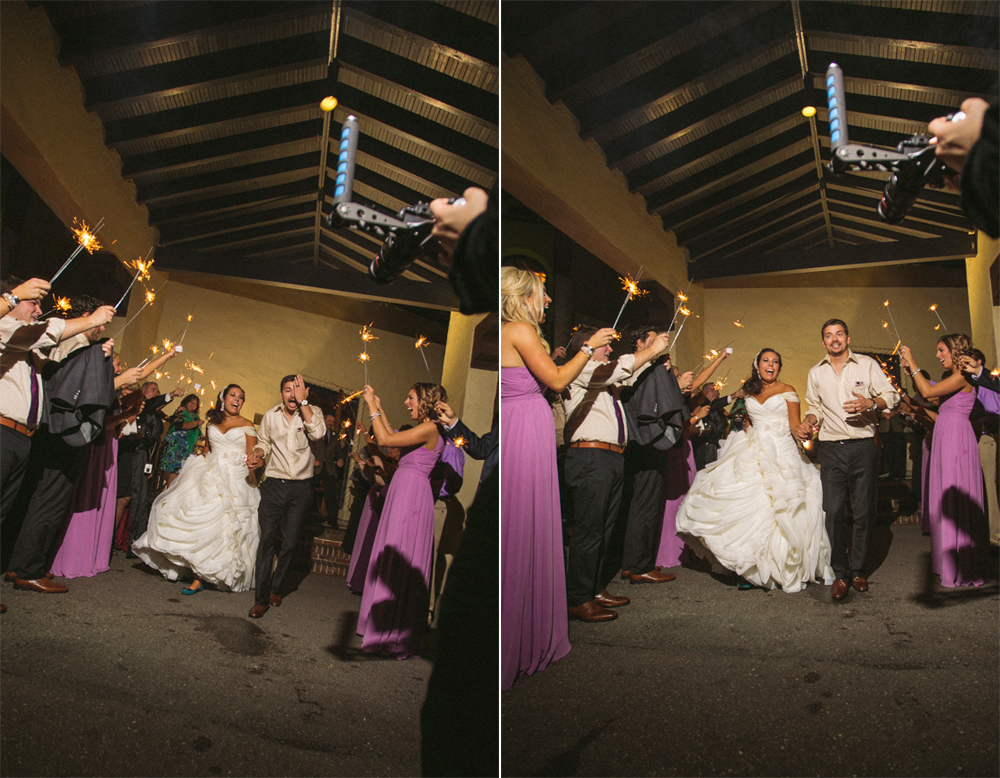 35 sparkler exit at wedding