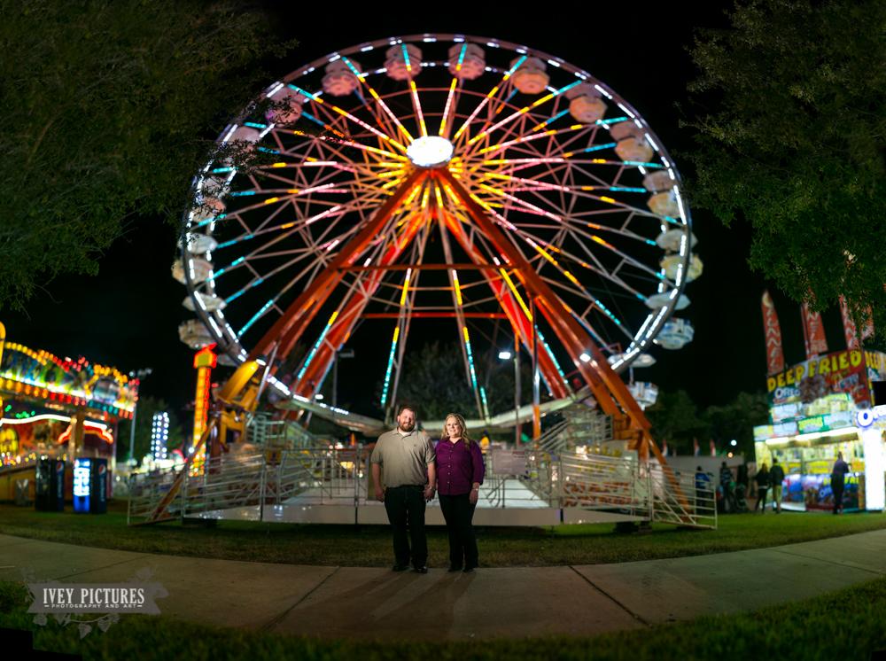 4 ferris wheel engagement photo