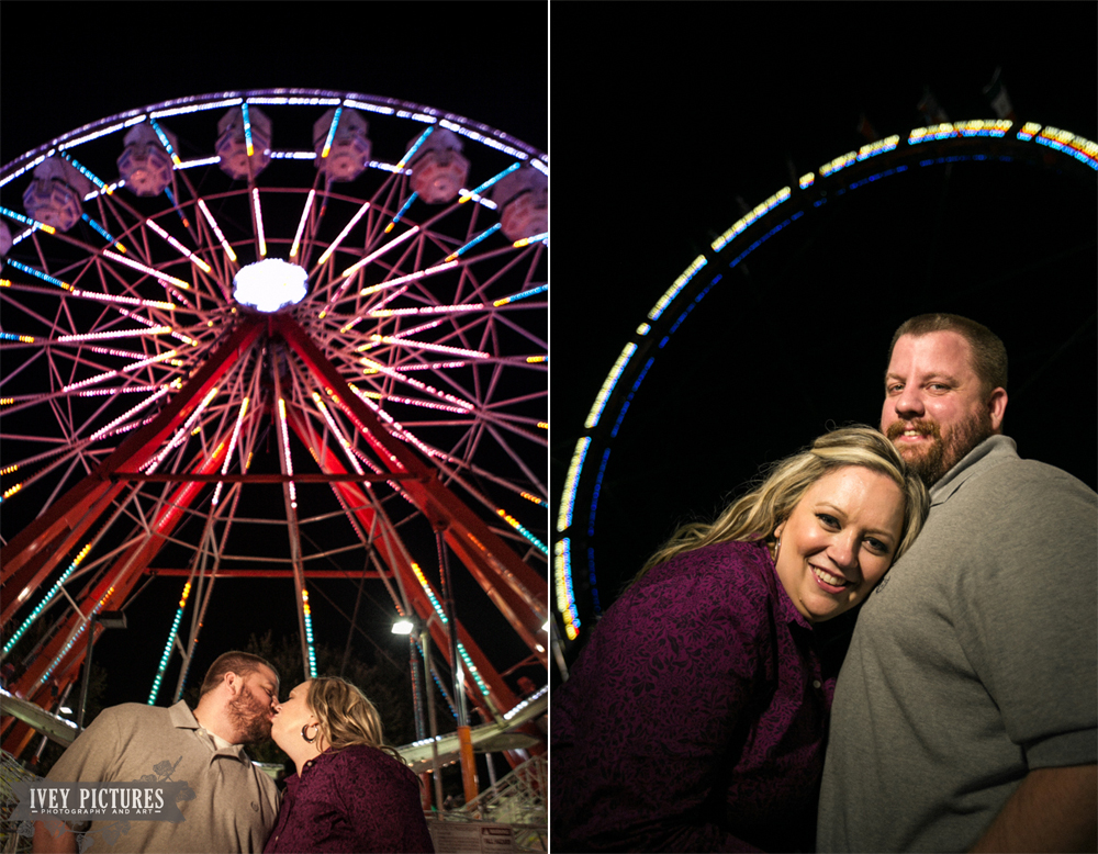 5 engagement photo at the fair