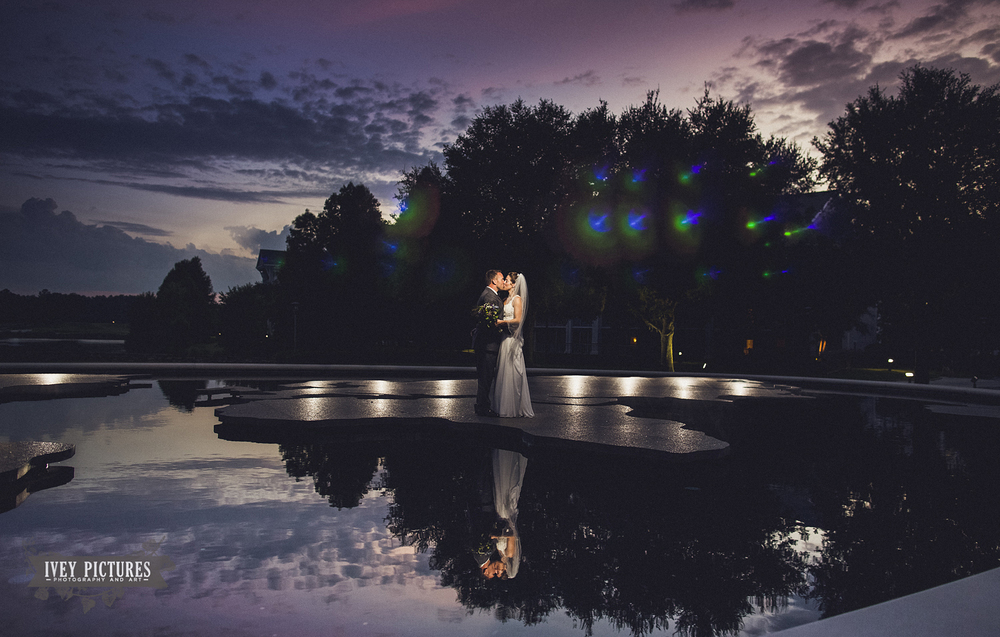 World Golf Village Fountain Wedding Photo