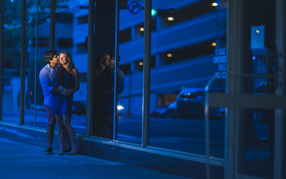 Downtown Jacksonville Engagement Photo
