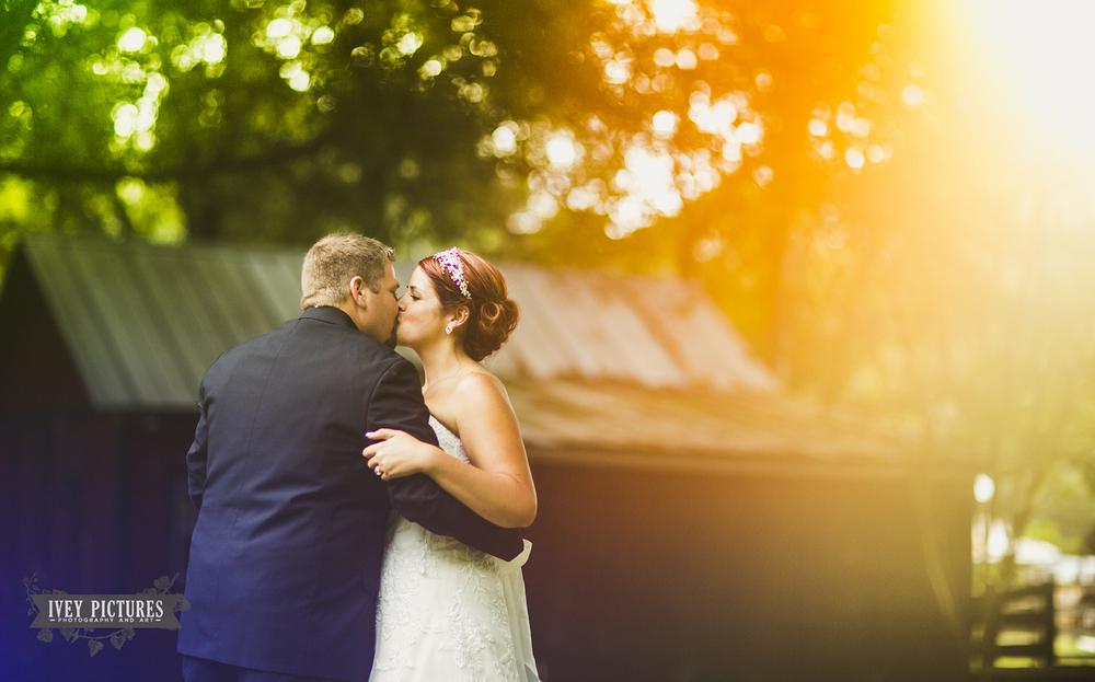 Sun Flare at Wedding
