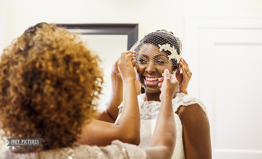 Bride getting ready at The Ribault Club
