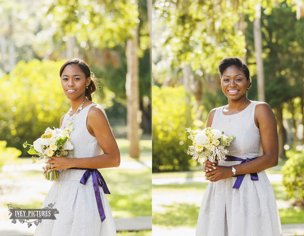 Natural light bridesmaid portraits