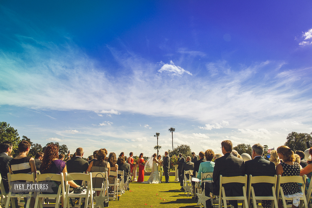 outdoor wedding at tpc sawgrass jacksonville