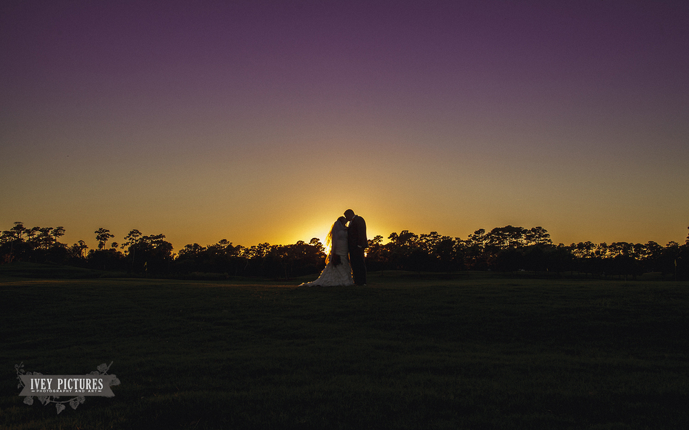 bride and groom silhouette photo