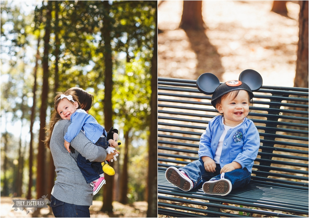 mickey mouse hat family photo