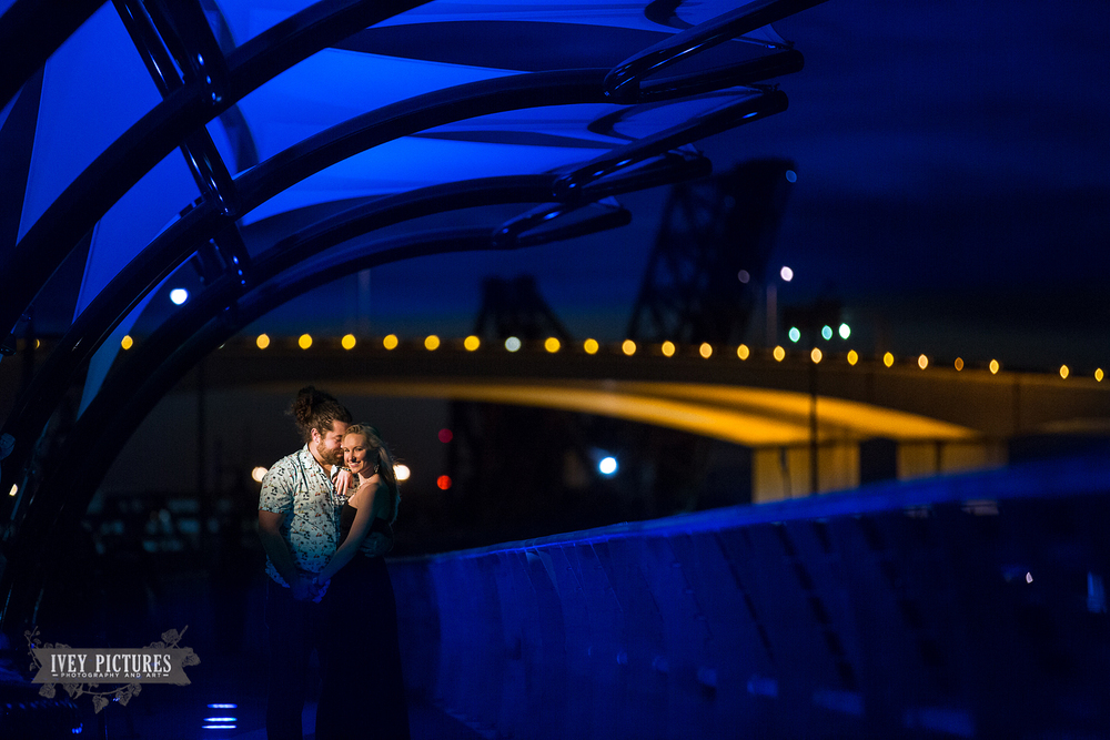 Southbank Riverwalk Jacksonville Engagement photo