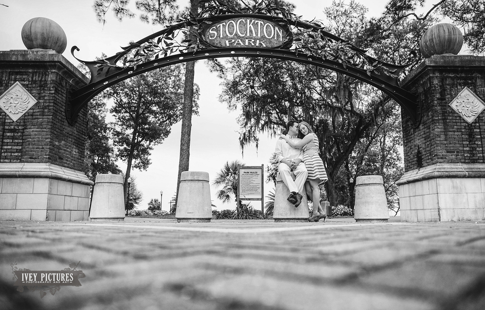 Stockon park jacksonville engagement photo
